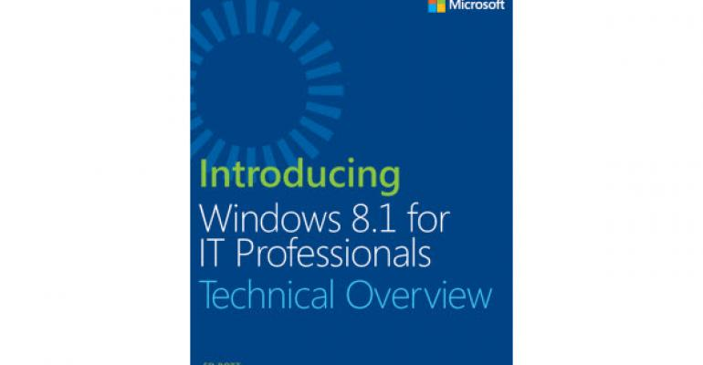 Free eBook: Introducing Windows 8.1 for IT Professionals – Technical Overview