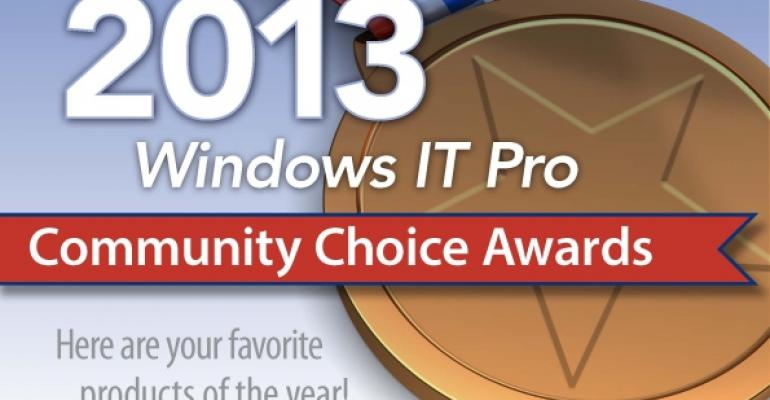 2013 Windows IT Pro Community Choice Awards art
