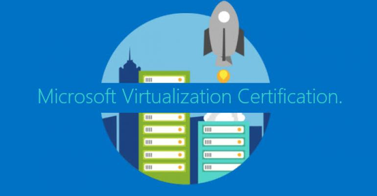 microsoft virtualization certification course and exam free with