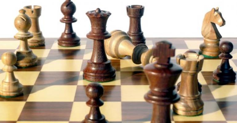 Chess board with checkmate