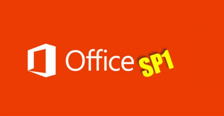 1st Service Packs Released for Office 2013 and Exchange 2013