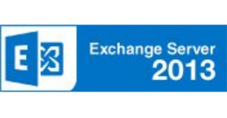 blue exchange server logo on white background