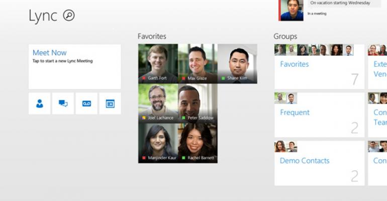 Lync for Windows 8/RT Updated