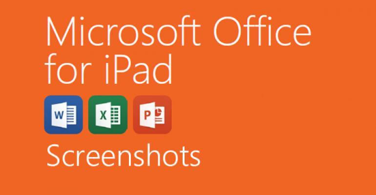 Microsoft Office for iPad Screenshots