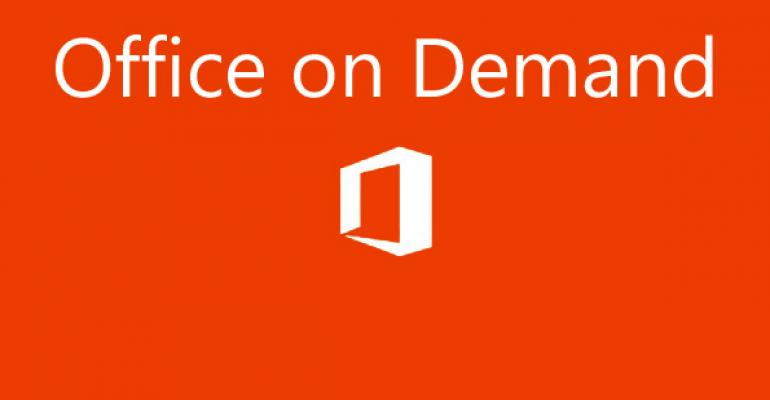 Tip: Use Office on Demand