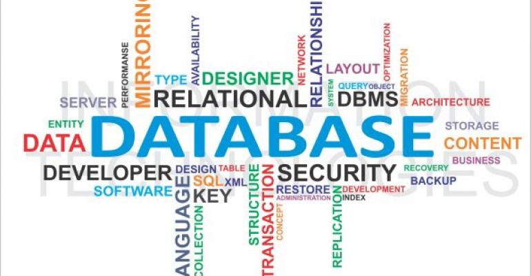 database word cloud