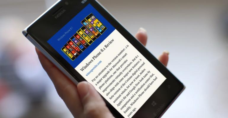 Windows Phone 8.1 Tip: Use Reading View in IE 11