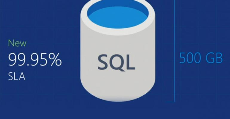 Microsoft increases storage for SQL Databases hosted in Azure