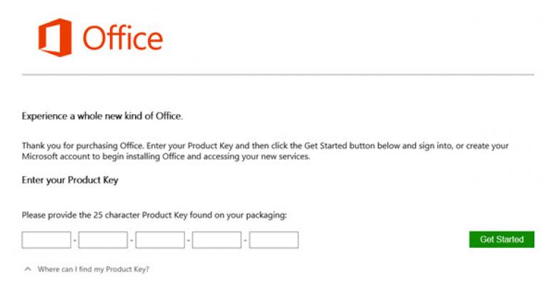Install Office from the Cloud Using Just your Product Key