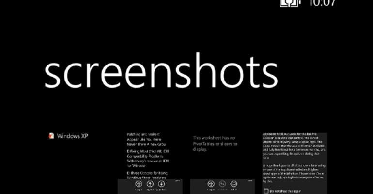 Screenshots Change in Windows Phone 8.1