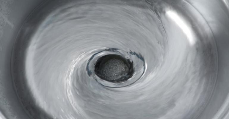 swirling drain