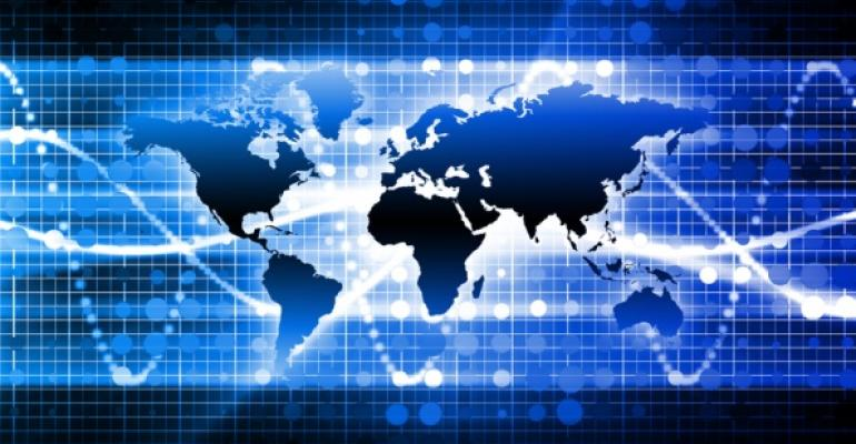 map depicting a regional network