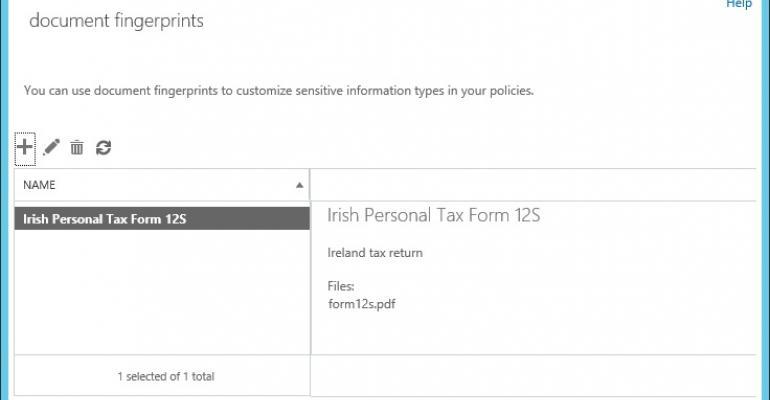 Exchange's interesting document fingerprinting feature