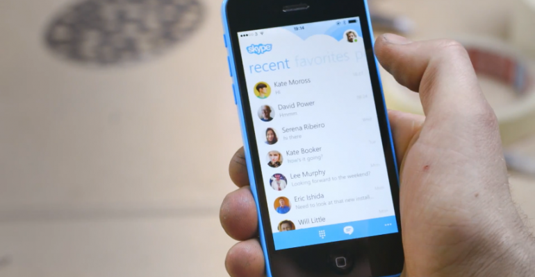"""Skype for iPhone """"Remastered"""" ... to Look Like Skype for Windows Phone"""