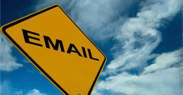 Email road sign
