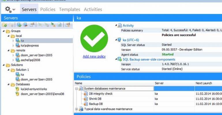 EMS SQL Backjup for SQL Server version 15
