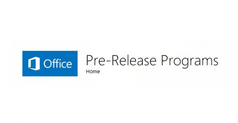 Be Considered to Beta Test Office 2015