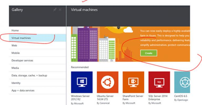 virtual machines now available in the microsoft azure gallery it pro