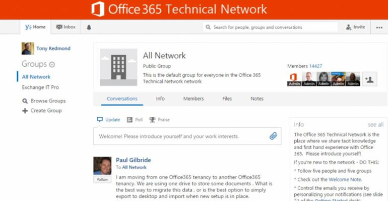 Yammer - a technology still looking for a solution?