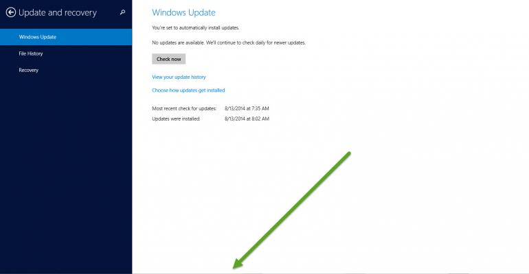 New Feature: Windows Taskbar Accessible in Modern Apps in August Update for Windows 8.1