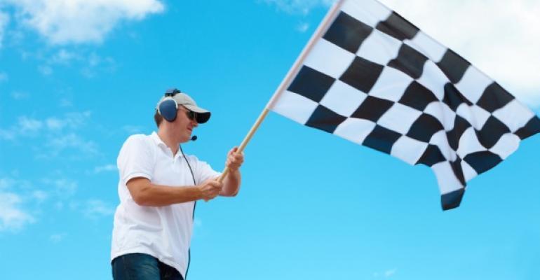 checkered start flag