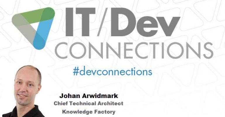 IT/Dev Connections 2014 Speaker Highlight: Johan Arwidmark
