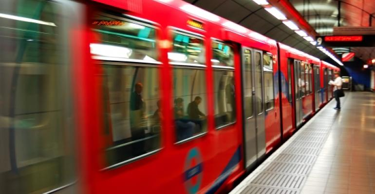 red Underground train