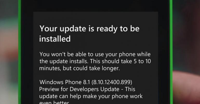 Get Windows Phone 8.1 Update 1 Now