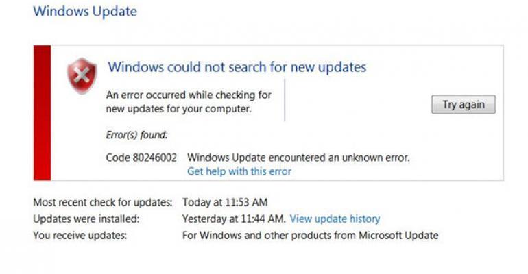Tracking: Error 80246002 Windows Update Problem