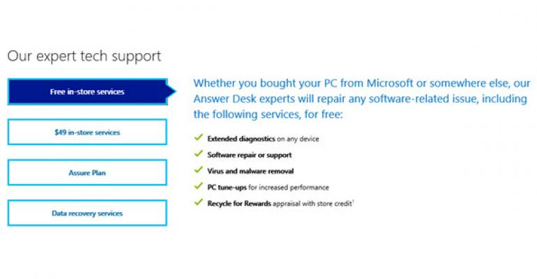 Microsoft Offering Limited, Free In-Store Support, Even If You Purchased Elsewhere