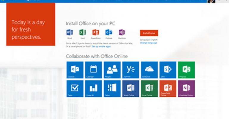 Microsoft Updates Office 365 Web Portal