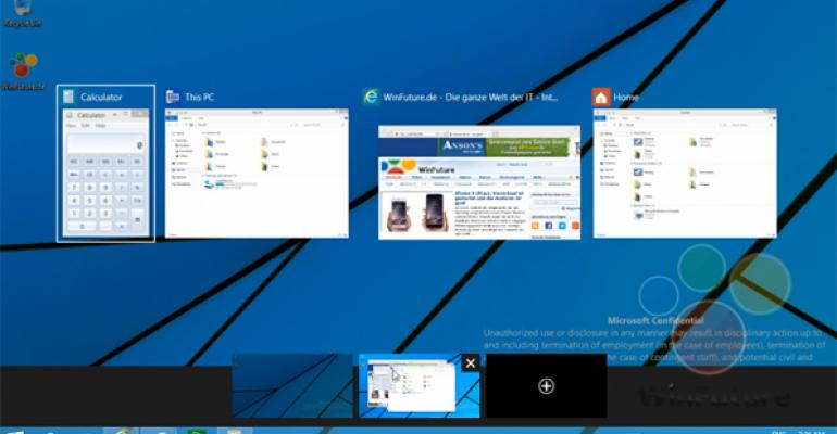 Windows 9 Technical Preview Virtual Desktops and