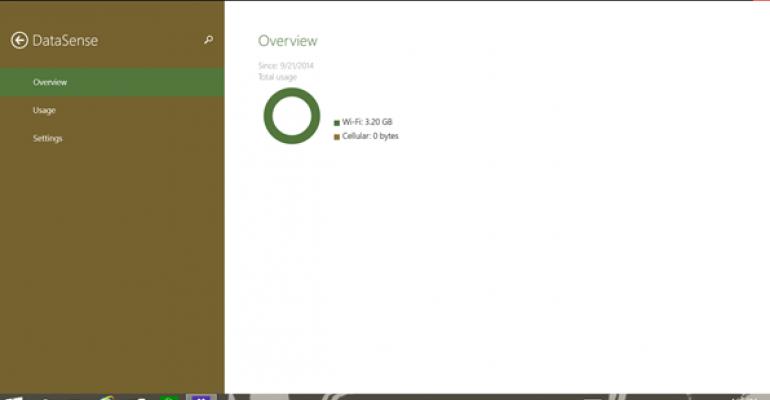 DataSense in Windows 10 Build 9860