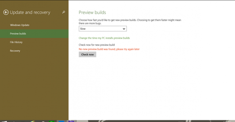 Preview Builds Customization in Windows 10 Build 9860