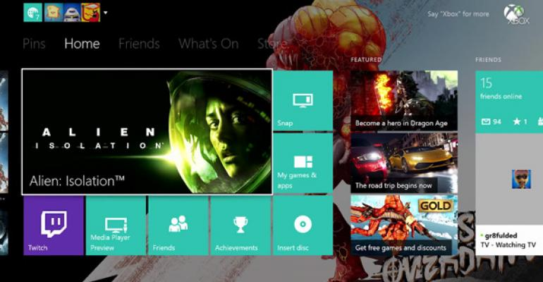 November 2014 System Update for Xbox One to Include New Personalization Features