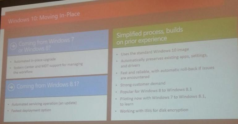 Moving from Windows 8.1 to Windows 10 with a Simple Update