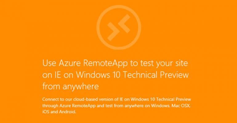 Run Internet Explorer on Multiple Platforms with New RemoteIE