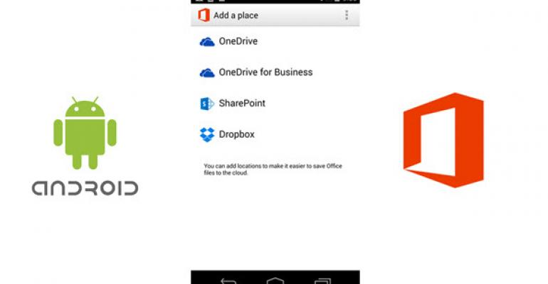Android Users Join iOS Users in Dropbox Support in Office 365 Mobile