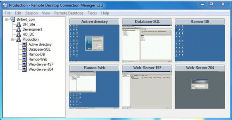 Remote Desktop Connection Manager 2.7 Released, Brings VM Console Connection Support