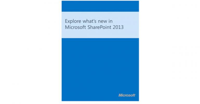 Free eBook: Exploring What's New in SharePoint 2013