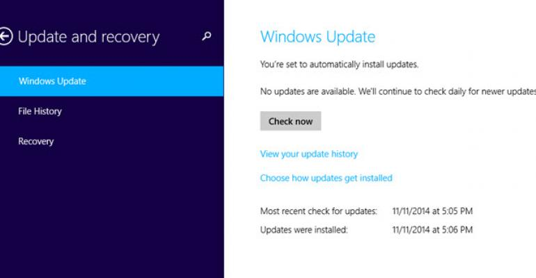 Cumulative Update Information Added to Windows Update History in November Updates