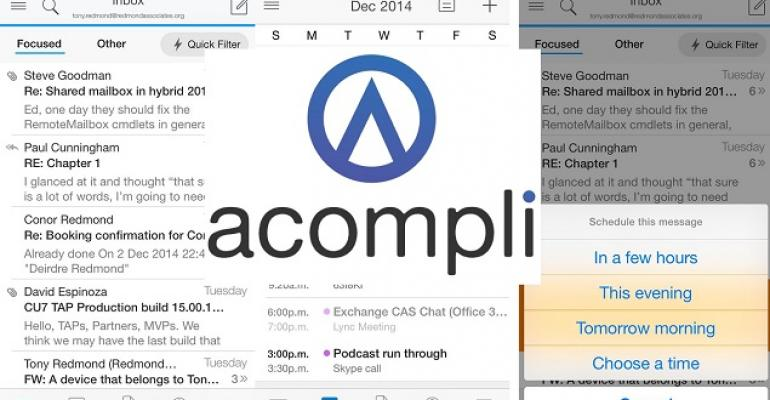 Acompli acquisition transforms Microsoft mobile email client strategy