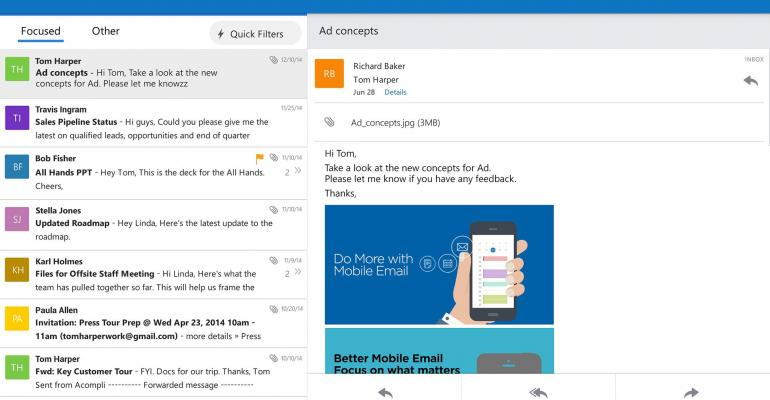 Microsoft announces release of Outlook app for iOS and Android
