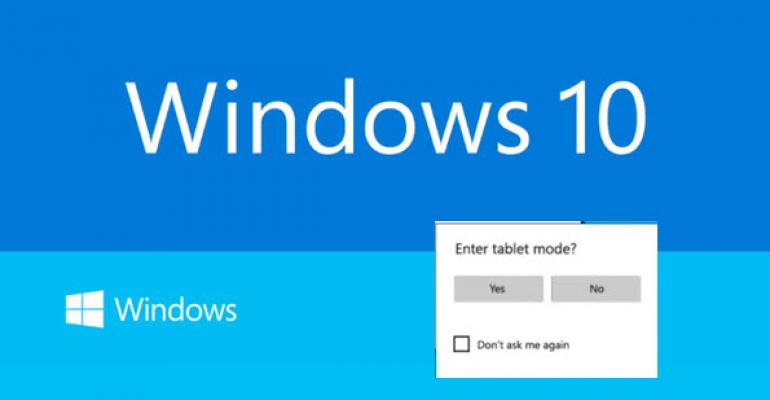 Windows 10 Build 9926: Continuum Makes an Appearance as Tablet Mode