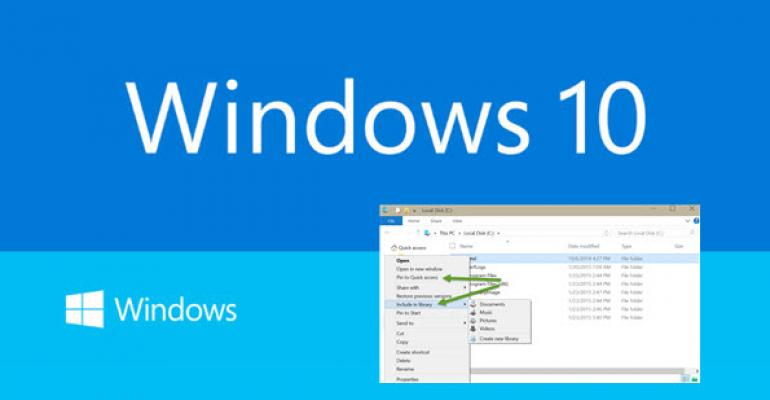 Windows 10 Build 9926: Quick Access and Libraries Living in Harmony