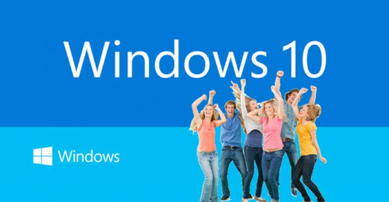 Windows 10 Event Announcement Scorecard
