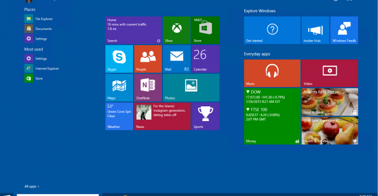 is microsoft taking the windows 10 start screen in the wrong