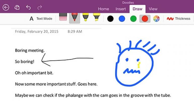 Hands on with OneNote for iPad: Stylish for styluses