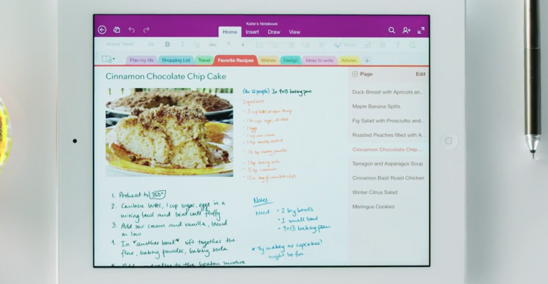 OneNote update brings support for handwriting recognition and OCR on iPad