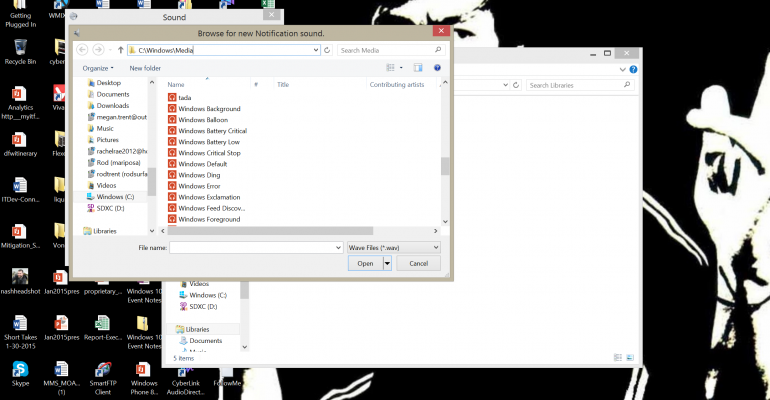 Changing the Default Notification Sound in Windows 8.1